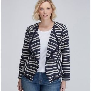 Lane Bryant Jacket Striped Open Front Cardigan 24